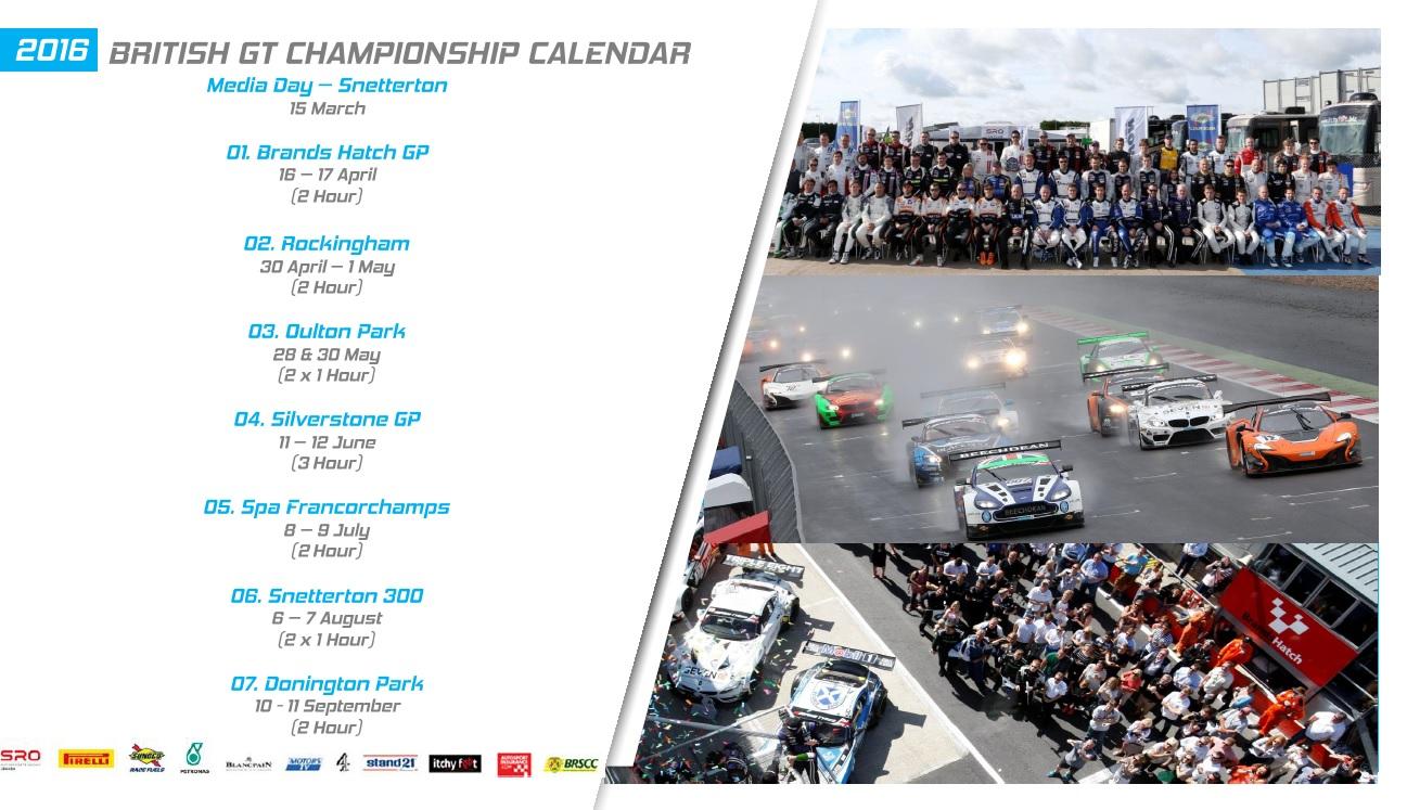 British GT Calendar